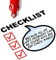 checklist funny